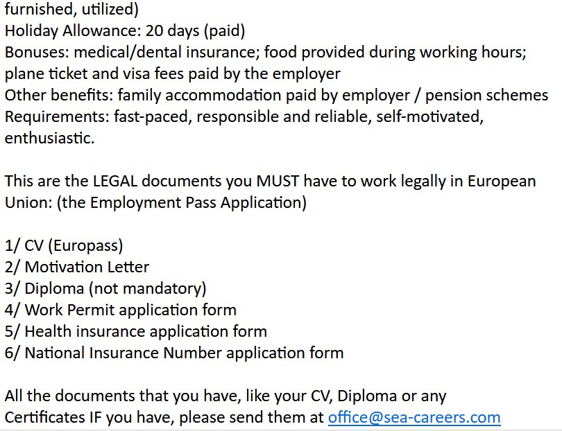 Email Scams - Sea-career - 2