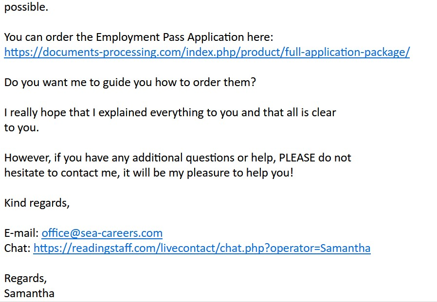 Email Scams - Sea-career - 4