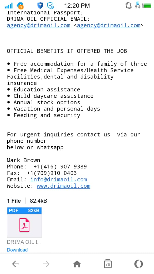 Email Scams - drimaoil - 2